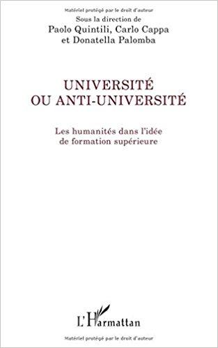 Université ou anti-université: Les Humanités Dans L'idée De Formation Supérieure