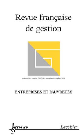 Revue française de gestion, n° 208-209, Entreprises et pauvretés