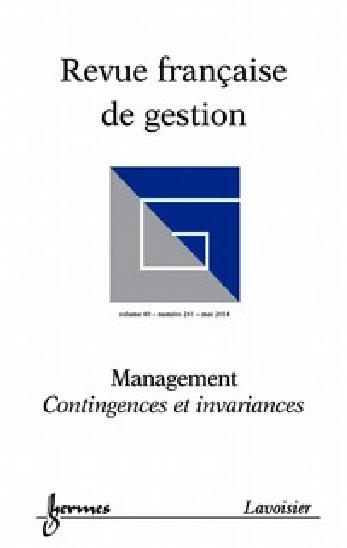 Revue française de gestion, n° 241, Management. Contingences et invariances, La fonction et l'outil